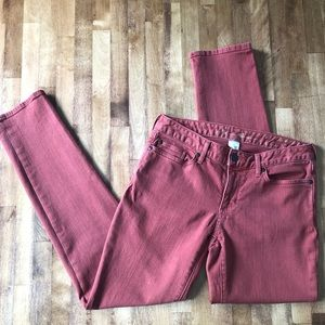 Eddie Bauer Straight Curvy Clay Red Jeans pants